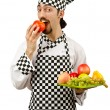 Male cook in apron — Stock Photo #11175434