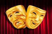 Theatre performance concept with masks — Foto de Stock