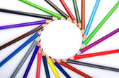 Lápis de cor no conceito de criatividade — Fotografia Stock