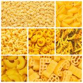 Set of various pasta backgrounds — Stock Photo