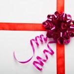 Celebration ribbons on white background — Stock Photo