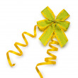 Celebration ribbons on white background — Stock Photo