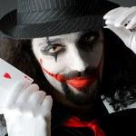 Joker with cards in studio shoot — Stock Photo #11316716