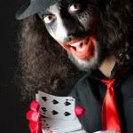 Joker with cards in studio shoot — Stock Photo #11316719