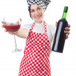 Woman cook isolated on the white — Stock Photo #11317054
