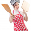 Woman cook isolated on the white — Stock Photo #11317071