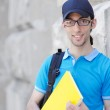 Student outside preparing for exams — Stock Photo #11317137