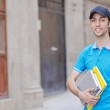 Student outside preparing for exams — Stock Photo #11317141