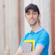 Student outside preparing for exams — Stock Photo #11317143