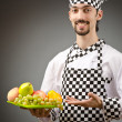 Male cook in the apron — Stock Photo