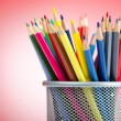 Colour pencils in creativity concept — ストック写真