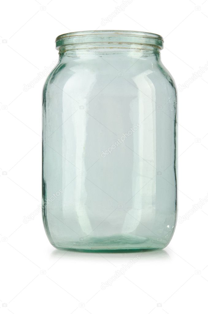 Glass empty jar isolated on white — Stock Photo #11316349