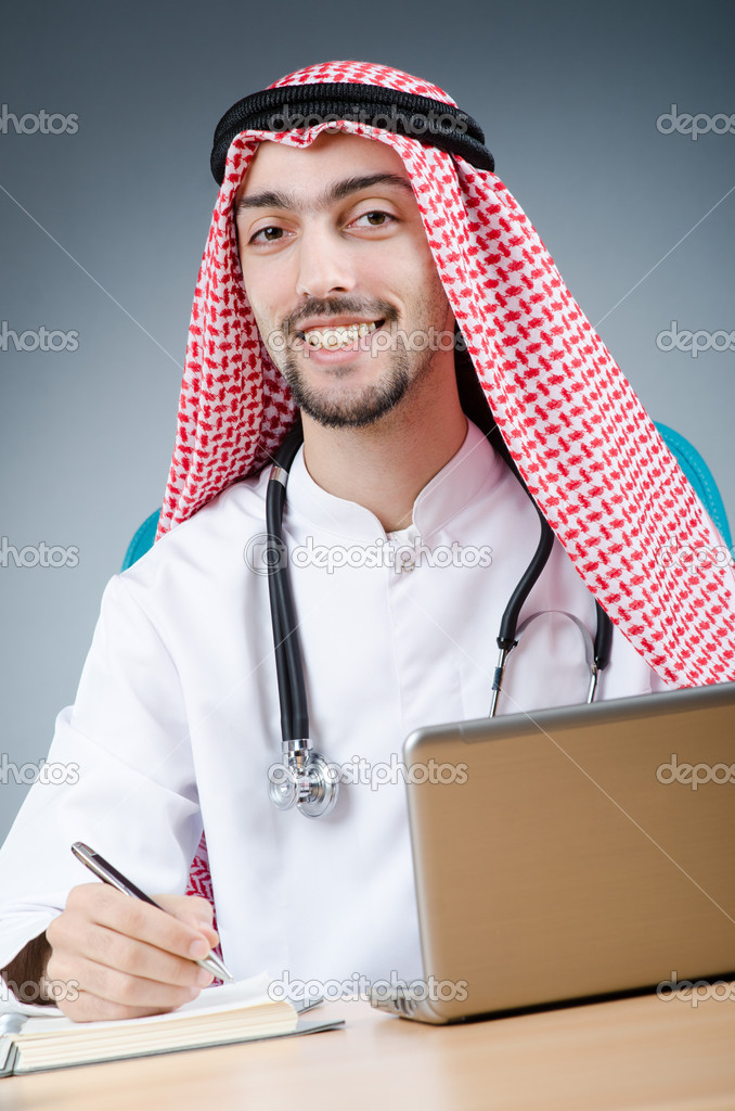 Arab doctor working in hospital — Stock Photo #11316728