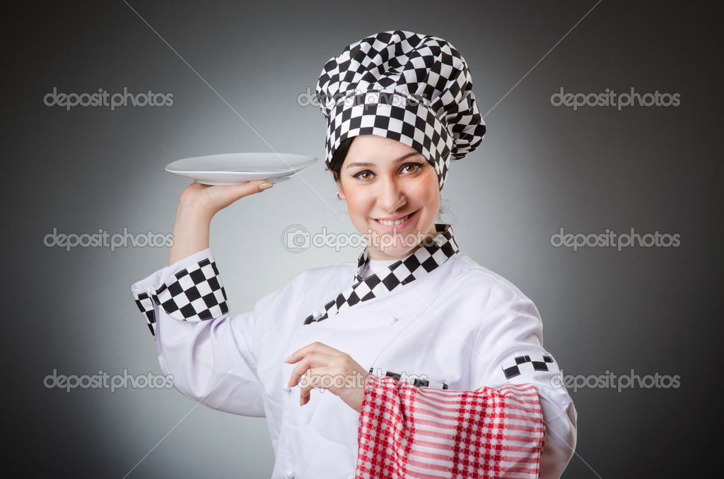 Woman cook isolated on the white — Stock Photo #11317085
