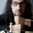 Chess player playing his game — Stock Photo #11399679