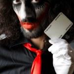 Joker with cards in studio shoot — Stock Photo #11399819