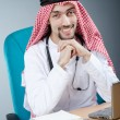 Arab doctor working in hospital — Stock Photo #11399822