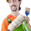 Painter isolated on the white — Stock Photo #11399863