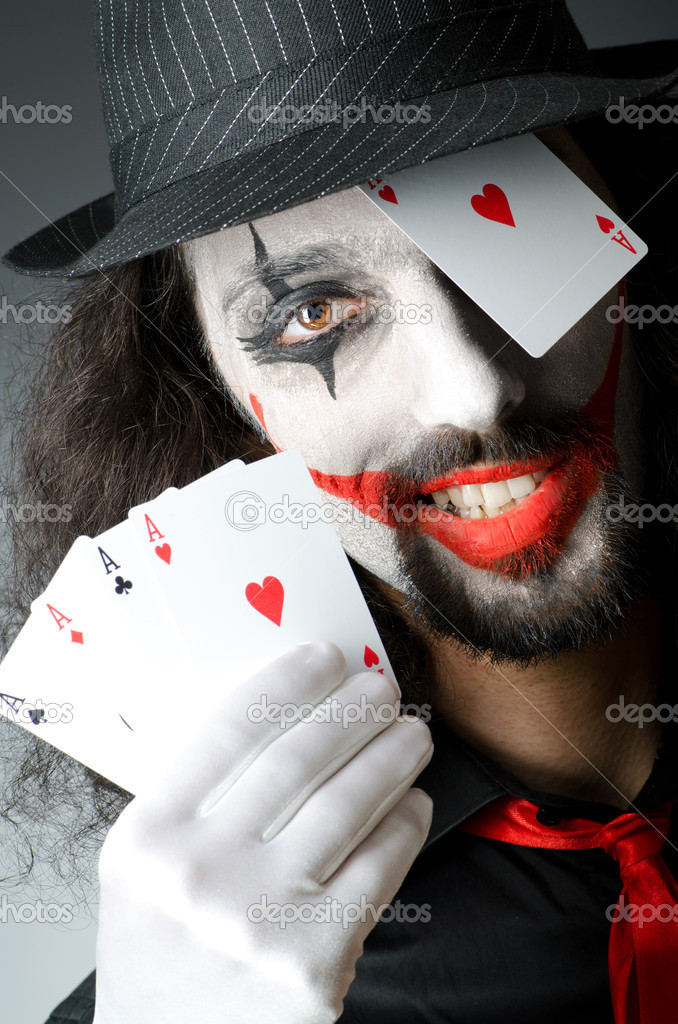 Joker with cards in studio shoot — Stock Photo #11399815