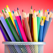 Colour pencils in creativity concept - Foto de Stock