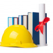 Construction industry education concept on white — Stock Photo