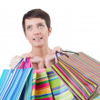Girl after shopping spree — Stock Photo #11463040
