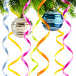 Holiday christmas decoration on white — Stockfoto
