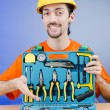 Repairmwith his toolkit — Stock Photo #11579553