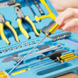 Repairmwith his toolkit — Stock Photo #11579570