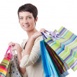 Girl after the shopping spree — Stock Photo