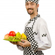 Male cook in the apron — Stock Photo #11582593