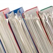 Pile of folders full of papers - Stock Photo
