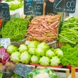 Fruits and vegetables at the market stall - Stok fotoğraf