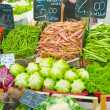 Fruits and vegetables at the market stall - Foto Stock