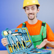 Repairmwith his toolkit — Stock Photo #11636384