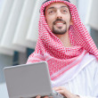 Arab on the street in summer - Stock Photo
