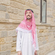 Arab on the street in summer — Stockfoto