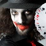 Joker with cards in studio shoot — Stock Photo #11636465