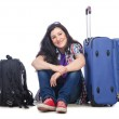 Girl preparing to travel for vacation — Stock Photo
