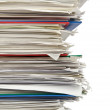 Pile of papers on white — Stock Photo #11637175