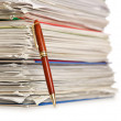 Pile of papers on white — Stock Photo #11637178