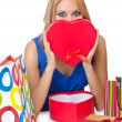 Attractive girl with shopping bags — Stock Photo