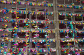 Símbolos del amor en verona - yarda de juliet — Foto de Stock