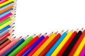 Colour pencils in creativity concept — Stock Photo
