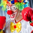 Clown with boxing gloves — Stock Photo #11902210