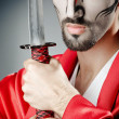 Japanese actor with sword — Stockfoto #11902602