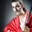 Japanese actor with sword - Foto Stock