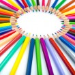 Colour pencils in creativity concept - Foto Stock