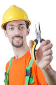 Repairman in coveralls in industrial concept — Stock Photo