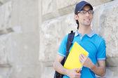 Estudiante fuera de preparación para exámenes — Foto de Stock